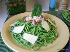 Tallarines verdes de espinaca cruda – Recetas simples y deliciosas