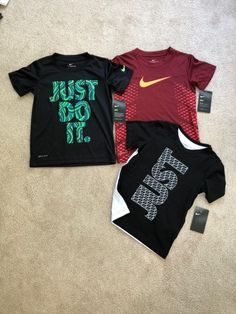 2 drifit Nike tees and one cotton Nike tee all NWT boys size 6 Short Shirts, Boys Shirts, Swag Outfits, Boy Outfits, Best T Shirt Designs, Athleisure Wear, Sport T Shirt, Banksy, Nike Tops