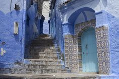 Chefchaouen, known for its blue-painted walls, is four hours from Fez. - Ben Sklar