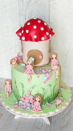 cake with fairies