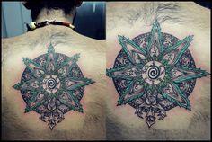 Custom Mandala! #mandala #tattoo #green #nature #freaks #namaste