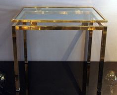 NK Brass Side Tables