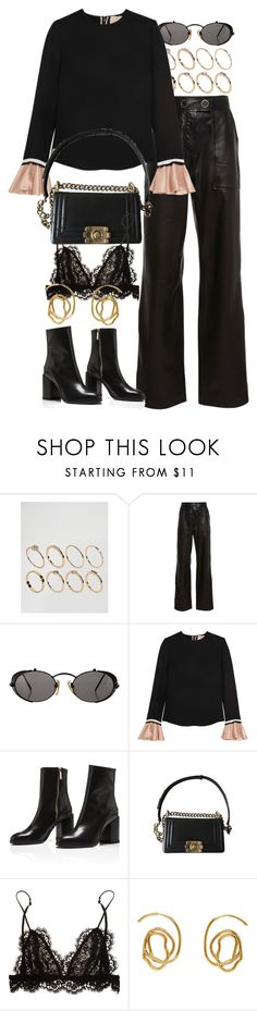 """""""Untitled #11143"""" by nikka-phillips ❤ liked on Polyvore featuring ASOS, Yves Salomon, Jean-Paul Gaultier, Roksanda, Chanel, Isabel Marant and E L L E R Y"""