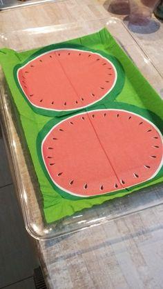 Πιατέλες για πάρτι με θέμα το καρπούζι (watermelon party)