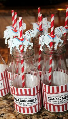 looks like carousel horses...for cupcake toppers