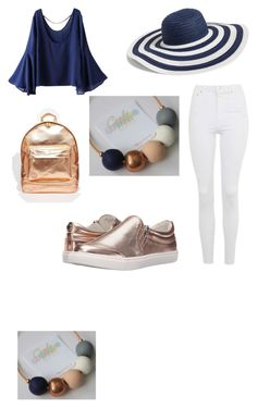 navy and rose gold by tiffany-facebook on Polyvore featuring polyvore  fashion style WithChic Topshop · Gold SetPolyvore FashionSteve MaddenVera  ...