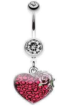 Flower Delight Showers Belly Button Ring - Sold Individually 14 GA 1.6mm