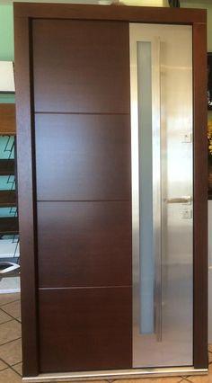 Modern Home Luxury Room Doors, Entry Doors, Entrance, Modern Front Door, Front Entry, Door Design, House Design, Wood Exterior Door, Window Grill