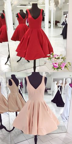 2017 short prom dress homecoming dress, red short prom dress homecoming dress, pink short prom dress homecoming dress
