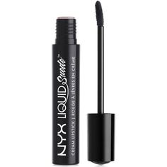 Nyx Professional Makeup Liquid Suede Cream Lipstick found on Polyvore featuring beauty products, makeup, lip makeup, lipstick, alien, glossy lipstick, lip gloss makeup, nyx and nyx lipstick