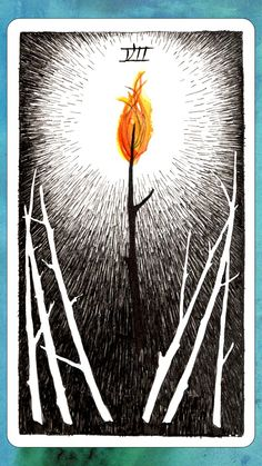#tarotaffirmation ~ I have the courage to stand up for myself and my beliefs. My light leads the way for others. ~ 7 of Wands