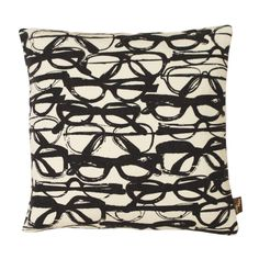Black & Cream Spectacles Cushion  Artist: Maria Hatling about $72