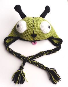 Gir, the dog from Invader Zim, hat... huge hit! her hats are lovely!