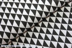 Bavlněná látka : Triangles > varianta Black