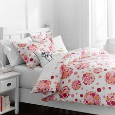 PB Teen Bubble Pop Duvet Cover, Full/Queen, Pink Multi at Pottery Barn... ($35) ❤ liked on Polyvore featuring home, bed & bath, bedding, duvet covers, pink, pink twin bedding, pink shams, pbteen bedding, x long twin bedding and pbteen