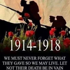 On today, 4 August 2014, the 100th Anniversary of the beginning of WW1.