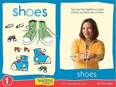 """Learn to sign """"shoes"""" in American Sign Language."""