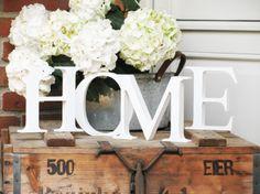 """Großer Schriftzug """"HOME"""" Größe L, Shabby Vintage von ★ FREUDENTANZ ★ auf DaWanda.com"""