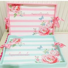 Arzununrenklitasarımları Decoupage Box, Decoupage Vintage, Ideas Desayunos, Home Crafts, Diy And Crafts, Creative Crafts, Shabby Chic Decor, Painting On Wood, Craft Projects