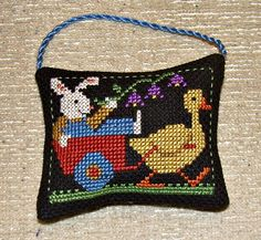 Bunny Ornament by sew2gether on Etsy, $9.00