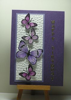 Purple Butterflies | Hi, I made this card to enter into a co… | Flickr
