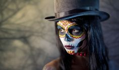Day of the Dead makeup-so pretty with all the colors