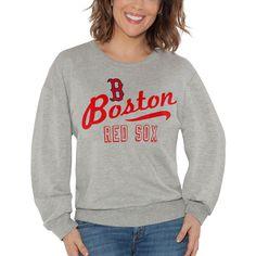 9720cf014 Boston Red Sox Touch by Alyssa Milano Women s Femme Flare Crew Sweatshirt –  Gray