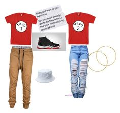 """Me and him"" by amarriahstaples ❤ liked on Polyvore featuring Tommy Hilfiger, Retrò and Melissa Odabash"