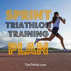 SPRINT TRIATHLON TRAINING PLAN #triathlon #trigirl #firsttri #triathlete…