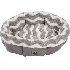 Your pet will love curling up in his or her Snoozzy Hip as a Zig Zag Shearling Round Pet Bed . The soft, circular design of this SnooZZy pet bed. Dog Beds For Small Dogs, Cool Dog Beds, Puppy Beds, Pet Beds, Round Beds, Pet Mat, Grey Bedding, Dog Supplies, Archie