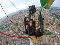 Vuelo en globo durante el Open de Aerostación de valladolid de 2015