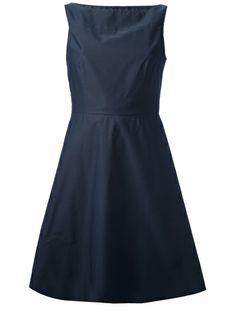 Jil Sander Navy Flared Sleeveless Dress