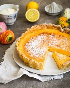 Backrezept für Zitronen Buttermilch Tarte Sommerkuchen Tarterezept Buttermilchkuchen Zitronenkuchen Zuckerzimtundliebe (Baking Bread Sweet)