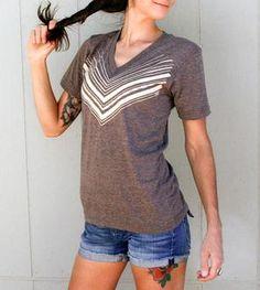Chevron V-Neck T-Shirt