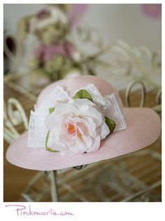 Pink Beautiful Party Hat For Flower Girl