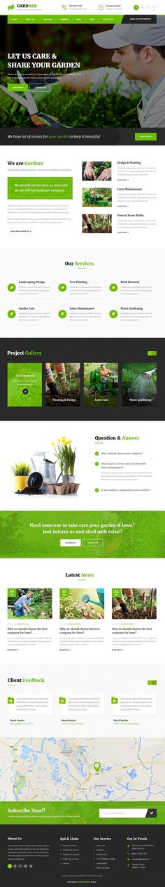 Gardner is clean and modern 3 in 1 #PSD Template designed specially for #Gardening, Landscaping Companies, #Lawn Services, Agriculture website download now➯  https://themeforest.net/item/gardner-garden-landscaping-psd-template/16924799?ref=Datasata