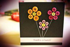 Button thank you card!