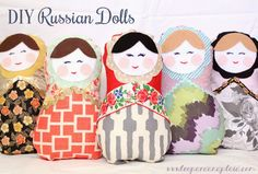 a creative day: DIY Christmas Series / DIY Russian Dolls / Leopard and Plaid