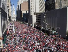 #TBT - The @Philadelphia Phillies championship parade, 5 years ago (today), on Broad St.