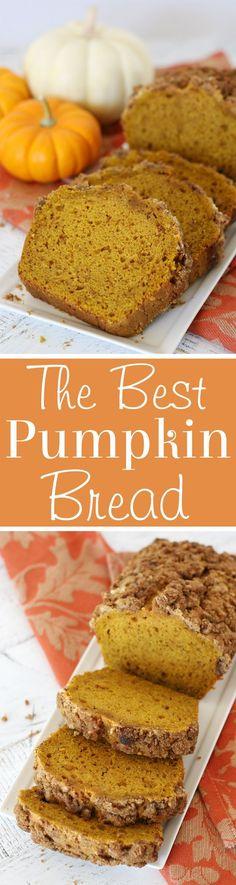 The Best Pumpkin Bread. #fall #Thanksgiving