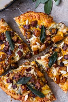 Sweet 'n' Spicy Roasted Butternut Squash Pizza w/Cider Caramelized Onions + Bacon