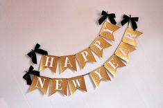 Happy New Years Banner.  Handcrafted in 1-2 Business Days.  New Years Eve Decorations.  New Years Eve Banner. by ConfettiMommaParty on Etsy https://www.etsy.com/listing/499014311/happy-new-years-banner-handcrafted-in-1