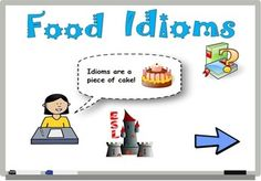Here is a flipchart to use with ActivInspire to have your kids participate to a classroom activity about food idioms! To see a preview of this flipchart, follow this link: https://www.youtube.com/watch?v=li38UAkNOgo or visit www.eslcastle.ca for more details!
