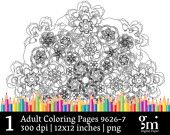 Adult Coloring Pages, Coloring Pages, Mandala Art, Mandala Digital, Mandala Digital Clip Art, Mandala Clipart, Instant Download