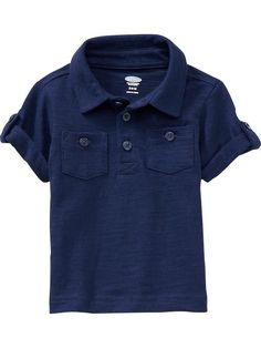 Cuffed-Sleeved Polos for Baby