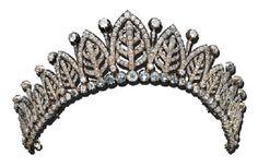 Diamond Tiara, circa 1860, via Christies..