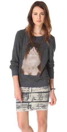 cat sweatshirt!