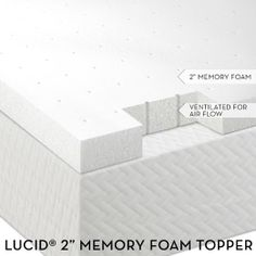 "Amazon.com - Lucid® by Linenspa 2"" Ventilated Memory Foam Mattress Topper 3-Year Warranty"
