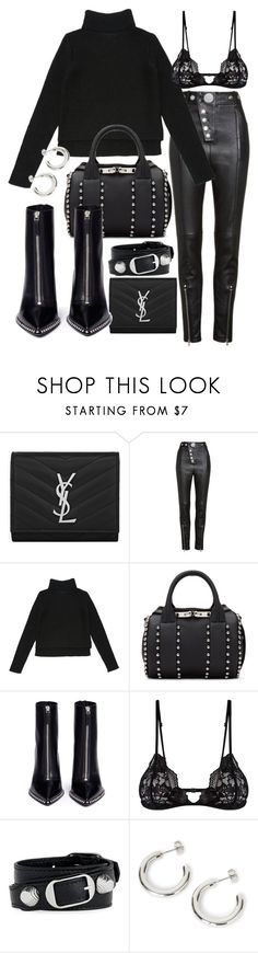 """Untitled #22874"" by florencia95 ❤ liked on Polyvore featuring Yves Saint Laurent, Alexander Wang, Mosmann and Balenciaga"