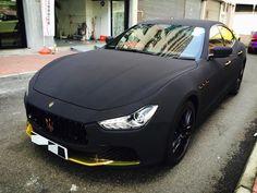 Maserati Ghibli Wrapped in Matte Black Suede - Motorward
